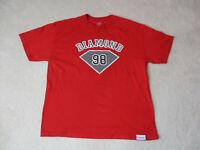 Diamond Supply Company Shirt Adult Extra Large Red Black Streetwear Mens *