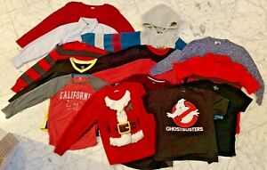 Boys Clothes Lot Size 8-10 Lot 768 Fall Winter Halloween Christmas