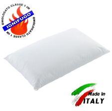 4 GUANCIALE IGNIFUGO CLASSE 1IM FIBRA CERTIFICATO - LAVABILE LAVATRICE ITALIANO