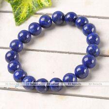 10mm Lapis Lazuli Gemstone Round Beads Healing Bangle Bracelet Fashion