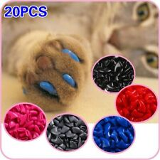 New Fashion colorful Cat Nail Caps soft cat Claw Soft Paws 20 Pcs/lot with free