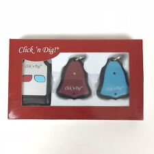 Click 'n Dig Model D2 Electronic Key Finder 2 Receivers Wireless RF Remote Item