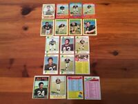 Lot of 18 Trading Cards - 1970 - 1974, 1977 Topps FOOTBALL Oakland Raiders (AFC)