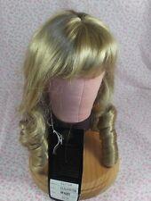 Vintage honey Blonde Doll Wig sz 12 long style curls & bangs Elizabeth tag