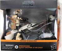 """Star Wars Black Series ~ 6"""" SPEEDER BIKE w/SCOUT TROOPER & THE CHILD DELUXE SET"""