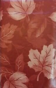 Bountiful Harvest Vinyl Tablecloths Cranberry  Leaves  Assorted Sizes & XL