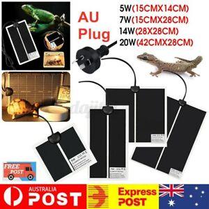 Pet Electric Adjustable Heat Reptile Lizard Heating Pad Bed Mat Warmer Heater AU