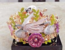 KIRKS FOLLY FAIRYLAND SWANS CUFF BRACELET  New in box