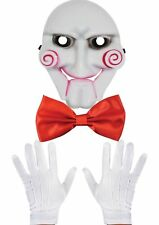 3 PIECE PUPPET SAW HALLOWEEN FANCY DRESS COSTUME ACCESSORY SCARY HORROR BILLY