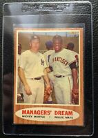 1962 TOPPS #18 MICKEY MANTLE WILLIE MAYS NEW YORK YANKEES HOF MANAGERS DREAM