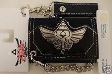 Nintendo Legend Of Zelda Crest Video Game Metal Badge Chain Wallet Nwt