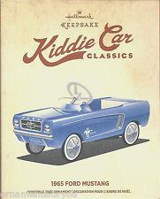 Hallmark 2015 1965 Blue Ford Mustang Kiddie Car Classics Christmas Tree Ornament