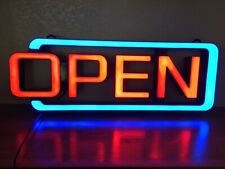 'Open' Neon Sign w 8 flashing options. Multi-color! Bright! Attention-grabbing!