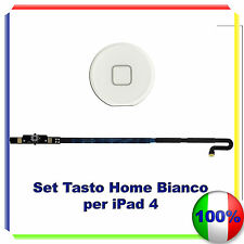 Kit Set Tasto Home button completo per iPad 4 BIANCO