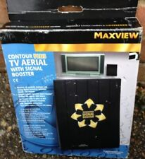 Maxview Contour Plus Slimline Indoor TV Aerial With Battery Booster Amplifier