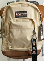 Trans By Jansport Backpack Super Cool Soft Tan Gray Laptop Back Pack New