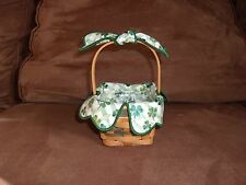 Longaberger 1999 Lots of Luck Basket Set with Lid, Tie-On & Handle Tie