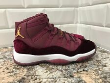 2016 Nike Air Jordan 11 XI Retro Velvet Heiress Night Maroon SZ 4Y 852625-650