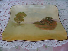 ANTIQUE VINTAGE ROYAL DOULTON OLD SANDWICH CAKE PLATE TRAY ENGLISH COTTAGES