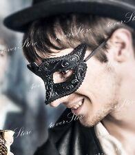 Men's Black Masquerade Mask For Prom, Formals, Masquerade Ball - Minimalist