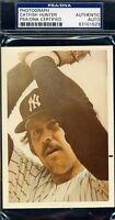Jim Catfish Hunter Yankees Signed Psa/dna Photo Autograph