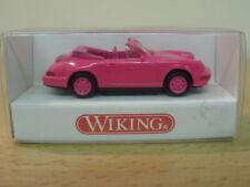 """Porsche Cabriolet """"Pink"""",1:87,WIKING,ovp,1650218"""