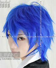 Hot Sell ! Vocaloid Kaito short blue layered cosplay Wig      g99