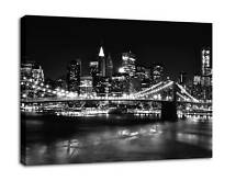 CANVAS PICTURE PRINT CITY SKYLINE NEW YORK framed A2