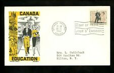 Postal History Canada Fdc #396 Boll Cachet Craft Education 1962