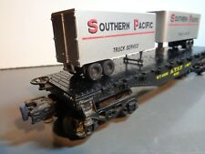 LIONEL A.T.C.F. 9022 FLATBED CAR WITH SOUTHERN PACIFIC PIGGYBACK TRAILERS 5-66-5
