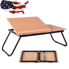 Portable Laptop Desk Notebook Computer Tray Folding Table Stand Travel Sofa Bed