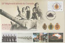 Canada 2021 Special Event Cover 150th Anniversary -12e Régiment blindé du Canada
