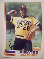 JIM BIBBY signed PIRATES 1982 Topps baseball card AUTO Autographed CARDINALS 170