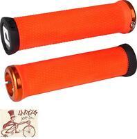 ODI ELITE MOTION LOCK-ON ORANGE W/ ORANGE CLAMPS BICYCLE GRIPS