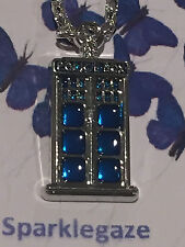 """BRAND NEW 2017 DR WHO """"POLICE BOX"""" SILVER PLATED NECKLACE GIFT AUS SELLER 2"""