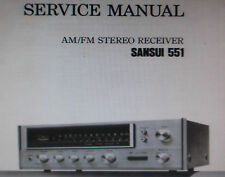 SANSUI 551 STEREO RECEIVER SERVICE MANUAL INC SCHEMATIC PRINTED BOUND ENGLISH
