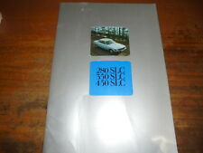 Prospekt Sales Brochure Mercedes Benz 280 350 450 SLC Auto Car 217PS