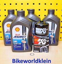 Ducati alle Modelle (außer Panigale) Öl K&N Ölfilter Shell Advance Ultra 15w50