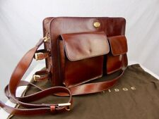 THE BRIDGE *current season* Large Classic brown Leather Workbag Briefcase