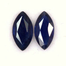 Certified Natural Sapphire Marquise Cut Pair 7x3.50 mm 0.75 Cts Blue Gemstone