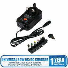 Universal AC/DC Power Supply Adapter Plug Charger Adaptor 3v 4.5v 6v 7.5v 9v 12V