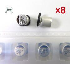 100uF 50V (8 Stück) - SMD Alu-Elko - NIC NACZ-Serie -> Very Low Impedance