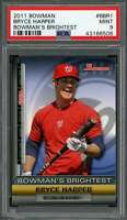 2011 bowman bowman's brightest #bbr1 BRYCE HARPER nationals rookie card PSA 9