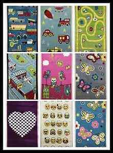 Kids Childrens Soft Quality Bedroom Nursery Rug Blue Pink Plane Car Emoji mat
