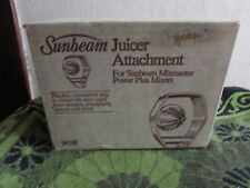 NEW VINTAGE SUNBEAM JUICER ATTACHMENT # 94361. FOR MIXMASTER POWER PLUS/ VISTA