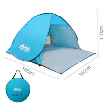 Portable Pop Up Beach Sun Wind Shelter Tent Instant Set up - Blue