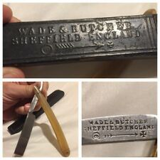Wade & Butcher YOU LATHER WELL I'LL SHAVE WELL razor Sheffield Steel England