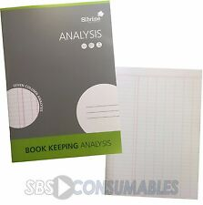 Silvine 7 Columns Analysis Book - 32 Pages A4 Analysis Pad Accounts Book Keeping