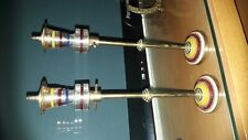 VINTAGE PAIR OF BRASS ORNAMENTS STREET LAMPS