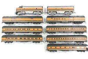 HO Athearn RTR Great Northern 7-Car Heavyweight Passenger Set F7A/B Pwr/Dummy